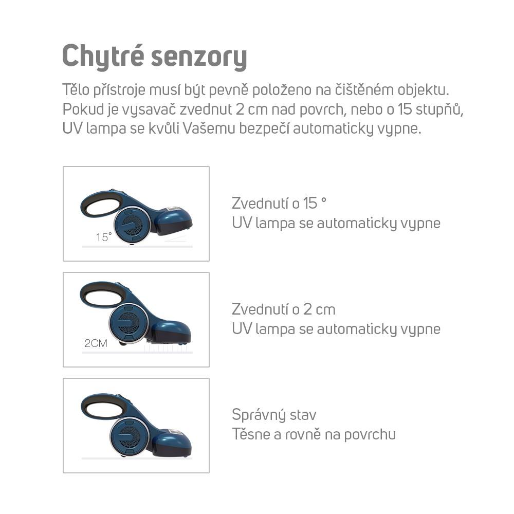 Pro Vaši ochranu používá Mamibot UV Lite 100 chytré senzory